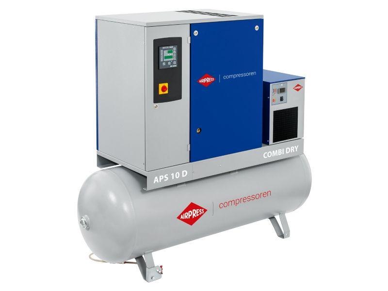 Schroefcompressor APS 10D Combi Dry 10 bar 10 pk/7.5 kW 1000 l/min 500 l