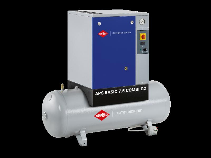 Schroefcompressor APS 7.5 Basic G2 Combi 10 bar 7.5 pk/5.5 kW 780 l/min 200 l