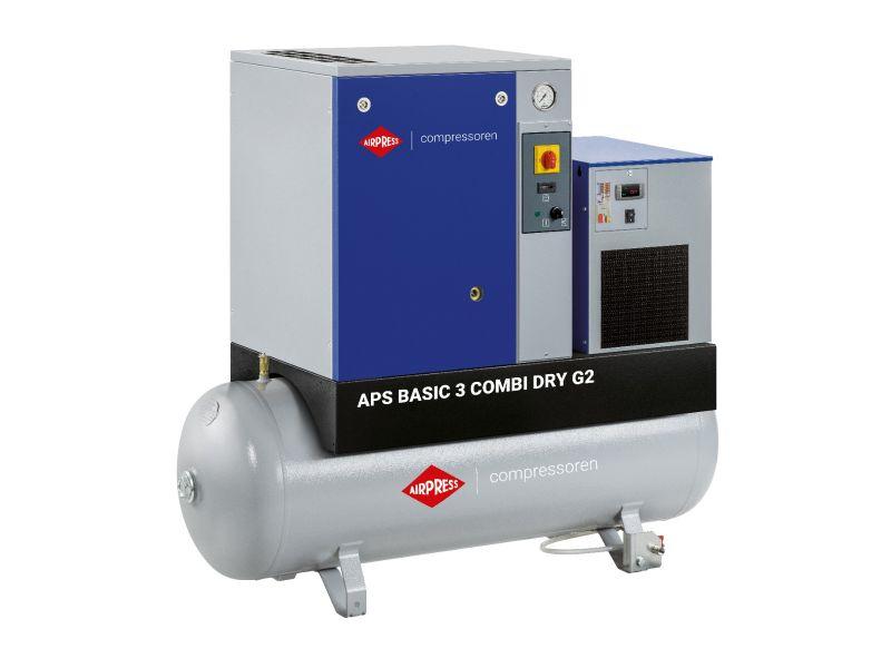 Schroefcompressor APS 3 Basic G2 Combi Dry 10 bar 3 pk/2.2 kW 294 l/min 200 l