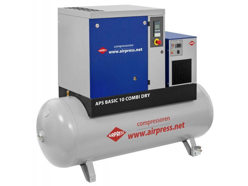 Schroefcompressor APS 10 Basic Combi Dry 10 bar 10 pk 996 l/min 500 l