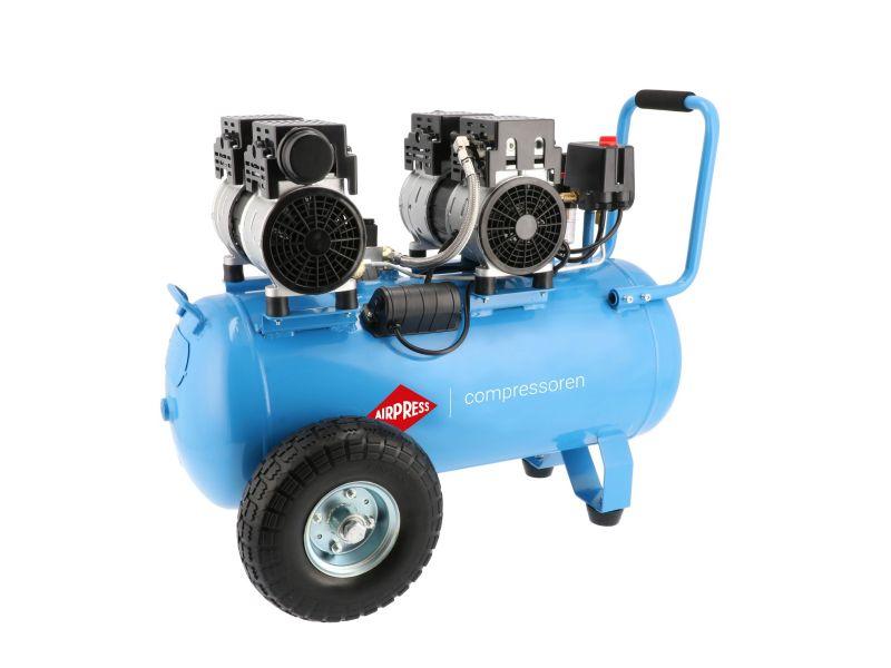 Stille Olievrije Compressor LMO 50-270 8 bar 2 pk/1.5 kW 185 l/min 50 l