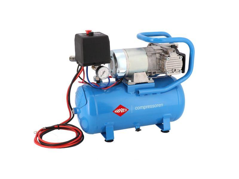12V Stille Olievrije Compressor DC 12-180/15 10 bar 0.75 pk/0.55 kW 144 l/min 15 l