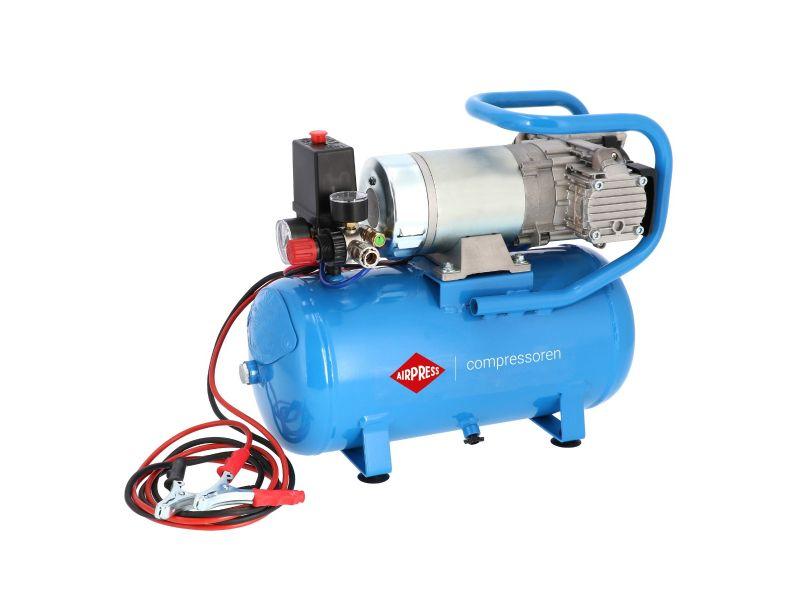 24V Stille Olievrije Compressor DC 24-225/15 10 bar 0.75 pk/0.55 kW 180 l/min 15 l