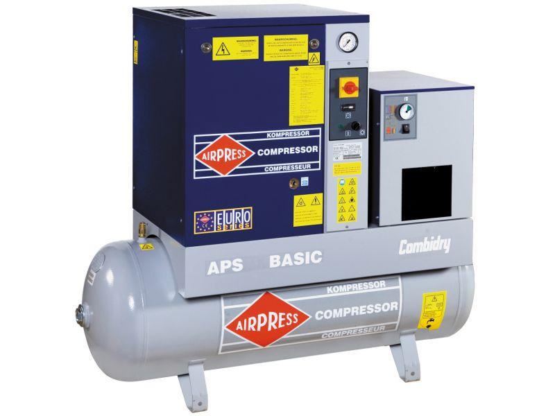 Schroefcompressor APS 7.5 Basic Combi Dry 10 bar 7.5 pk 600 l/min 500 l