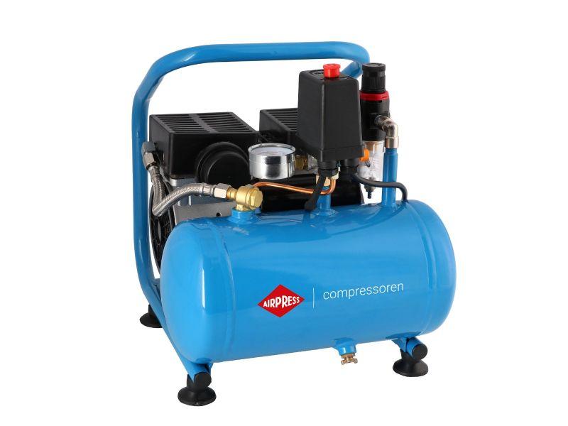 Stille Olievrije Compressor L 6-95 8 bar 0.6 pk/0.45 kW 25 l/min 6 l