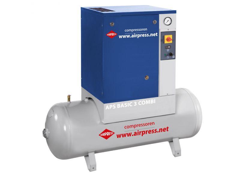 Schroefcompressor APS 3 Basic Combi 10 bar 3 pk/2.2 kW 240 l/min 200 l