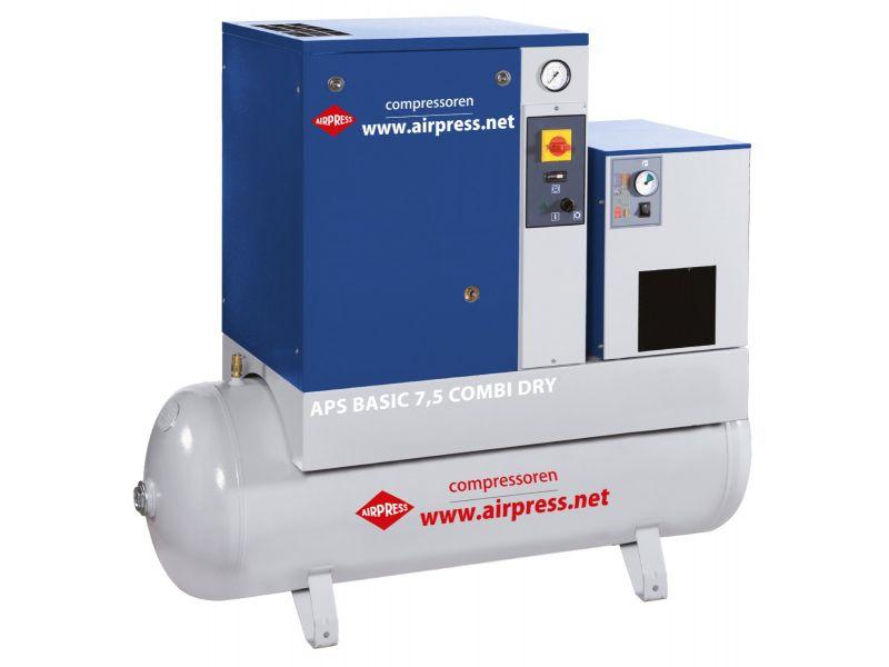 Schroefcompressor APS 7.5 Basic Combi Dry 10 bar 7.5 pk 600 l/min 200 l