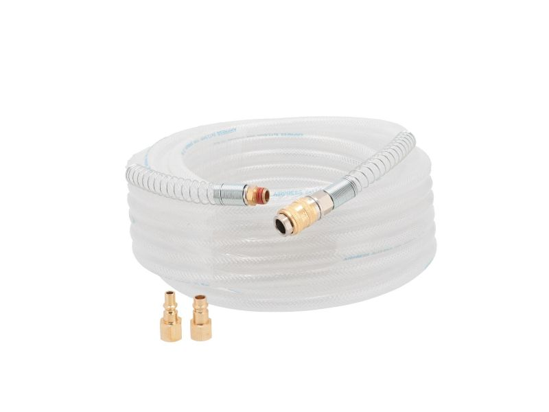 Luchtslang PVC gevlochten nylon 1/4