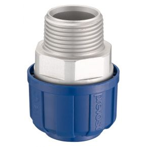 Aluminium koppeling 20 mm 3/4