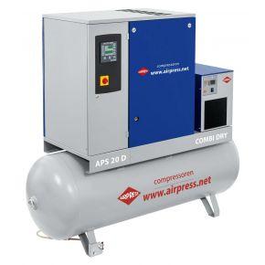 Schroefcompressor APS 20D Combi Dry 8 bar 20 pk/15 kW 2000 l/min 500 l