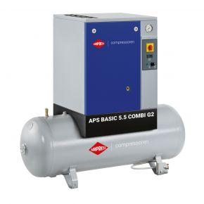 Schroefcompressor APS 5.5 Basic Combi G2 10 bar 5.5 pk 516 l/min 200 l
