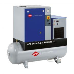 Schroefcompressor APS 5.5 Combi Dry G2 Basic 10 bar 5.5 pk 516 l/min 200 l