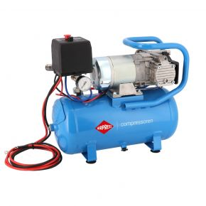 12V Stille Olievrije Compressor DC 12-180/15 10 bar 0.75 pk 144 l/min 15 l