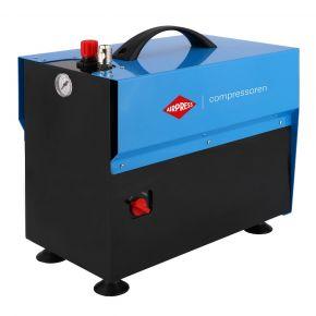 Stille Olievrije Compressor LMO 5-210 10 bar 0.75 pk/0.55 kW 85 l/min 5 l