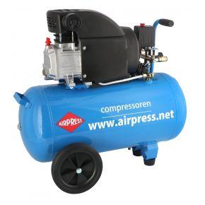 Kompresor tłokowy HL 275-50 o ciśnieniu maksymalnym 8 bar i mocy 2KM. Wydajność 130 l/min