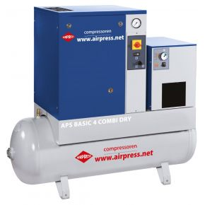 Schroefcompressor APS 4 Basic Combi Dry 10 bar 4 pk 320 l/min 200 l