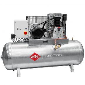 Compressor G 1500-500 SD Pro 14 bar 10 pk/7.5 kW 686 l/min 500 l verzinkt ster-driehoek schakelaar