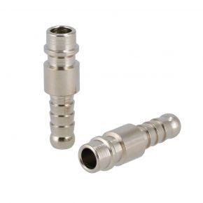 Insteeknippel Euro 8 mm slangaansluiting 2 stuks in blister