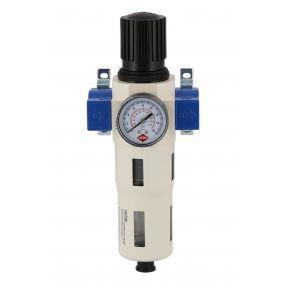 """Olie-/Waterafscheider met reduceerventiel 1/2"""" 15 bar"""