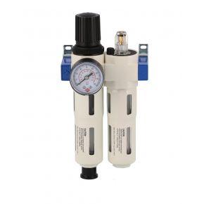 "Olie-/Waterafscheider reduceerventiel en olienevelaar 1"" 15 bar"