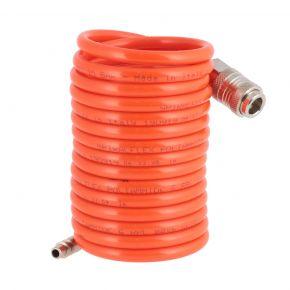 Spiraalslang nylon met Type Orion snelkoppeling en insteeknippel 6 x 8 mm 3 m 12 bar