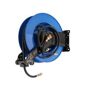 """Luchtslanghaspel hybride polymeer muurhaspel zelfoprollend 3/8"""" buitendraad 10 x 13.5 mm 20 m 20 bar"""