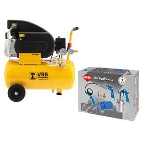 Compressor 8LC24-1.5 VRB 8 bar 1.5 pk 165 l/min 24 l Plug & Play