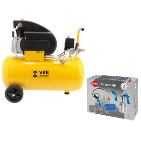 Compressor 8LC50-2.0 VRB 8 bar 2 pk 200 l/min 50 l Plug & Play
