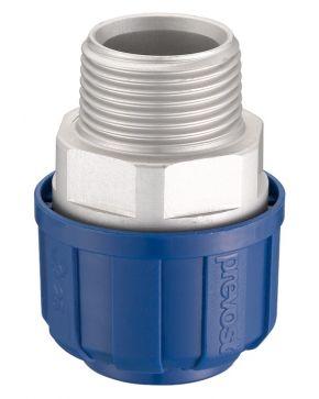 "Aluminium koppeling 20 mm 1/2"" uitwendig"