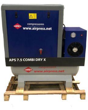 Schroefcompressor APS 7.5 Combi Dry X 10 bar 7.5 pk 690 l/min 200 l - Demo model OP=OP