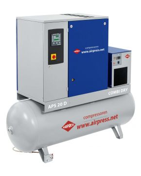Schroefcompressor Combi Dry 8 bar 20 pk 500 l 2000 l/min