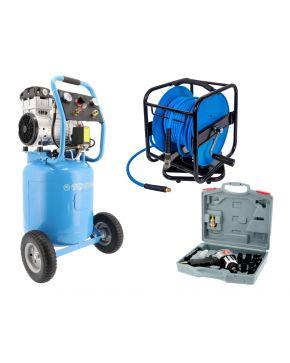 Stille Olievrije Compressor LMVO 40-250 8 bar 2 pk 150 l/min 38 l Plug & Play