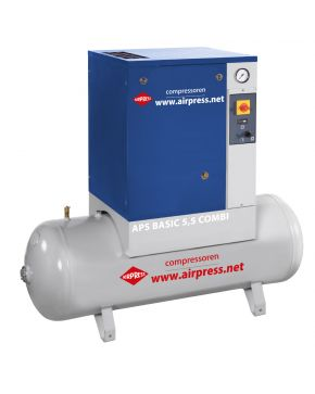 Schroefcompressor APS 5.5 Basic Combi 10 bar 5.5 pk 470 l/min 200 l