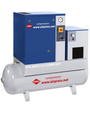 Schroefcompressor APS 5.5 Basic Combi Dry 10 bar 5.5 pk 470 l/min 200 l