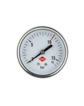 """Manometer 1/4"""" 16 bar achter aansluiting 63 mm"""