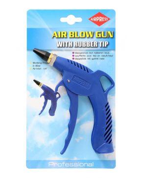 Blaaspistool met rubberen neus