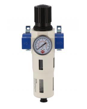 """Olie-/Waterafscheider en Reduceerventiel 1/4"""" 15 bar"""