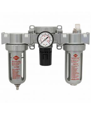 "Olie-/Waterafscheider reduceerventiel en olienevelaar 3/8"" 15 bar"