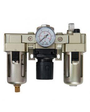 "Olie-/Waterafscheider Reduceerventiel en Olienevelaar 1/4"" 10 bar 25 micron"