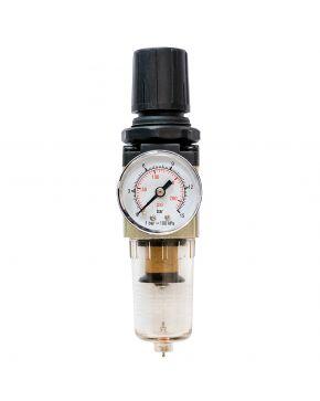 """Olie-/Waterafscheider en reduceerventiel 1/4"""" 10 bar 25 micron"""