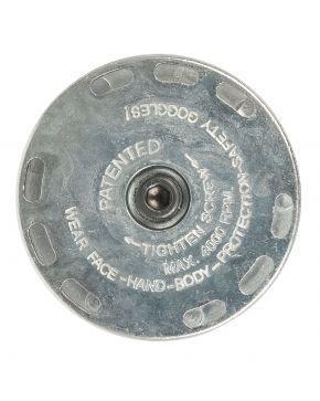 Houder 23 mm draadborstel met rubberen wiel t.b.v. 45429