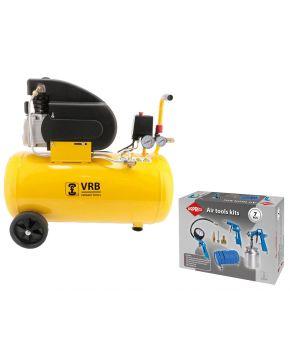 Compressor 8LC50-2.0 VRB 8 bar 2 pk 200 l/min 50 l Plug & Play
