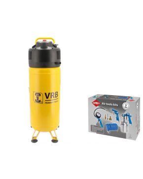 Compressor 8LCV50-2.0 VRB 10 bar 2 pk 220 l/min 50 l Plug & Play