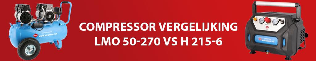 Compressor vergelijking: H 215-6 VS LMO 50-270