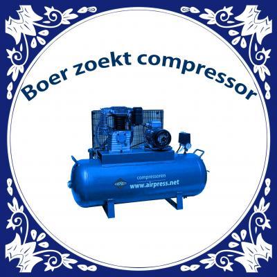 Boer zoekt compressor