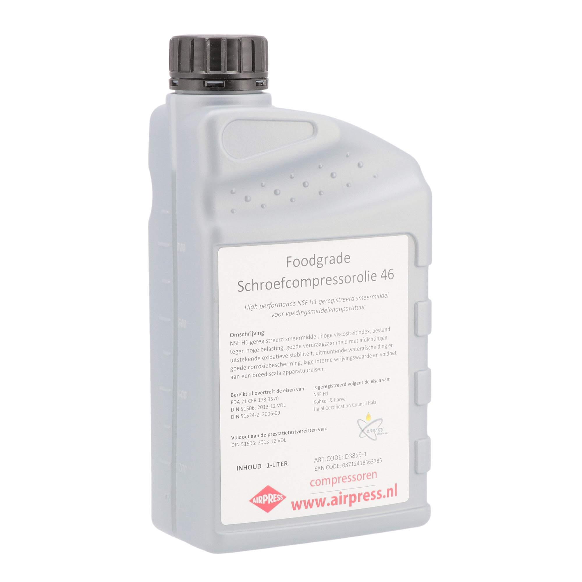 Schroefcompressor olie 1 l foodgrade