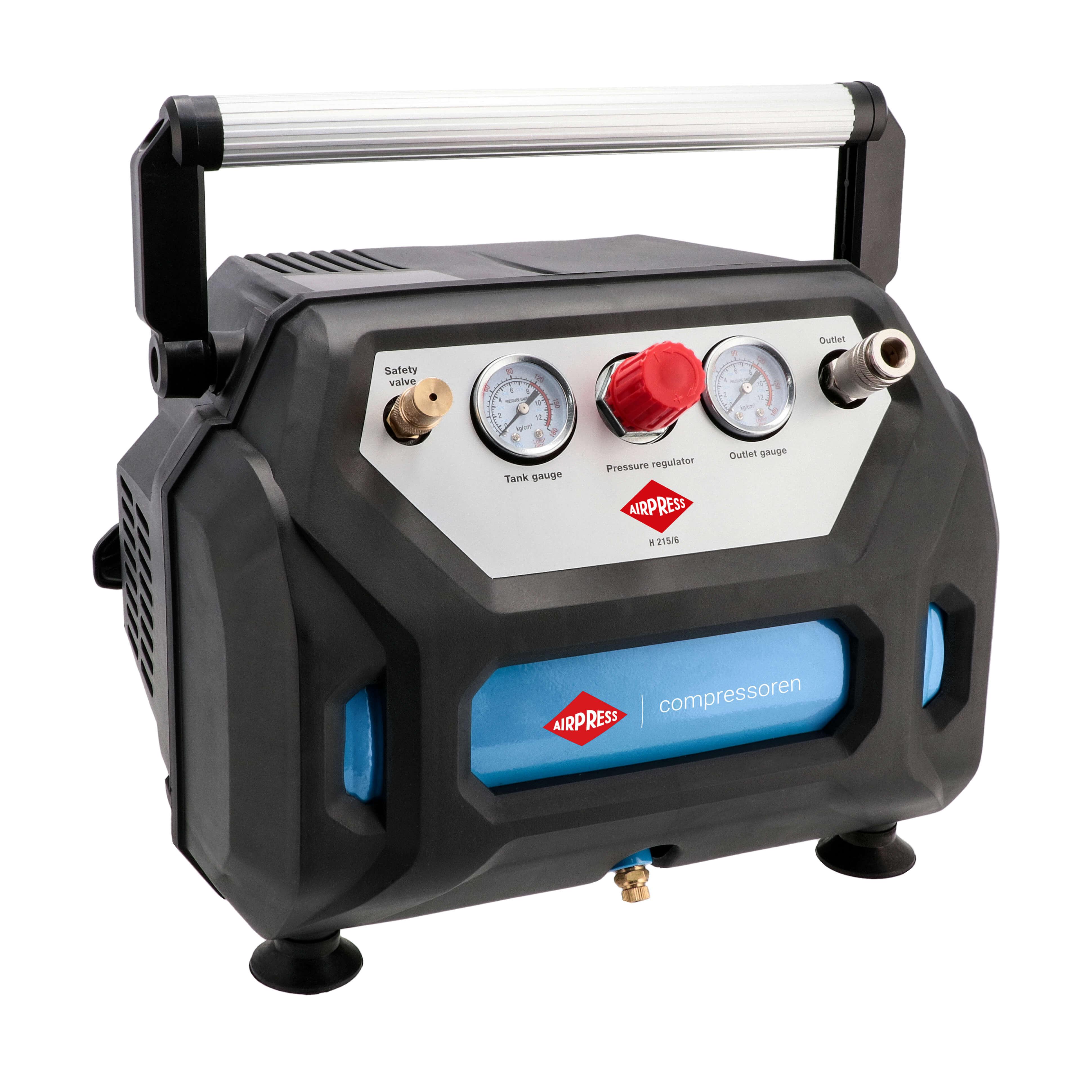 Compressor H 215-6 8 bar 1.5 pk/1.1 kW 92 l/min 6 l