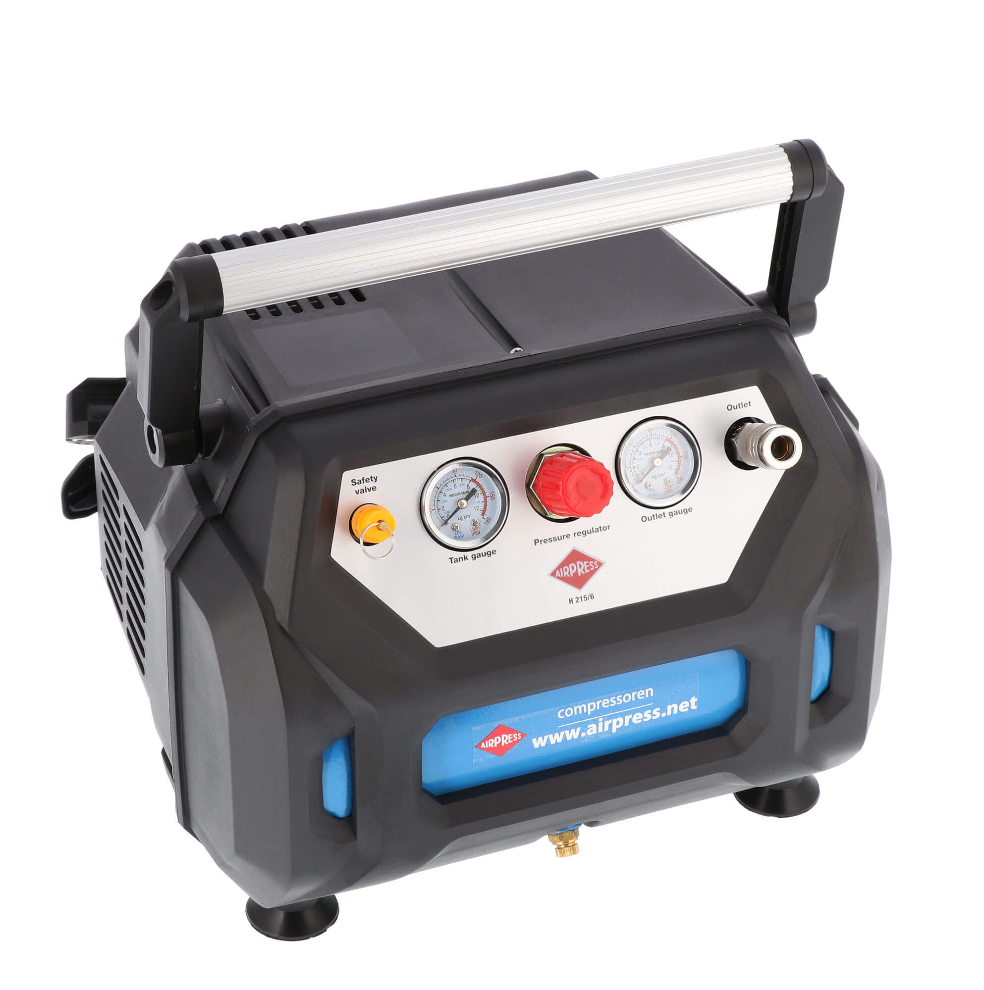 Olievrije Compressor H 215-6 8 bar 1.5 pk 92 l/min 6 l