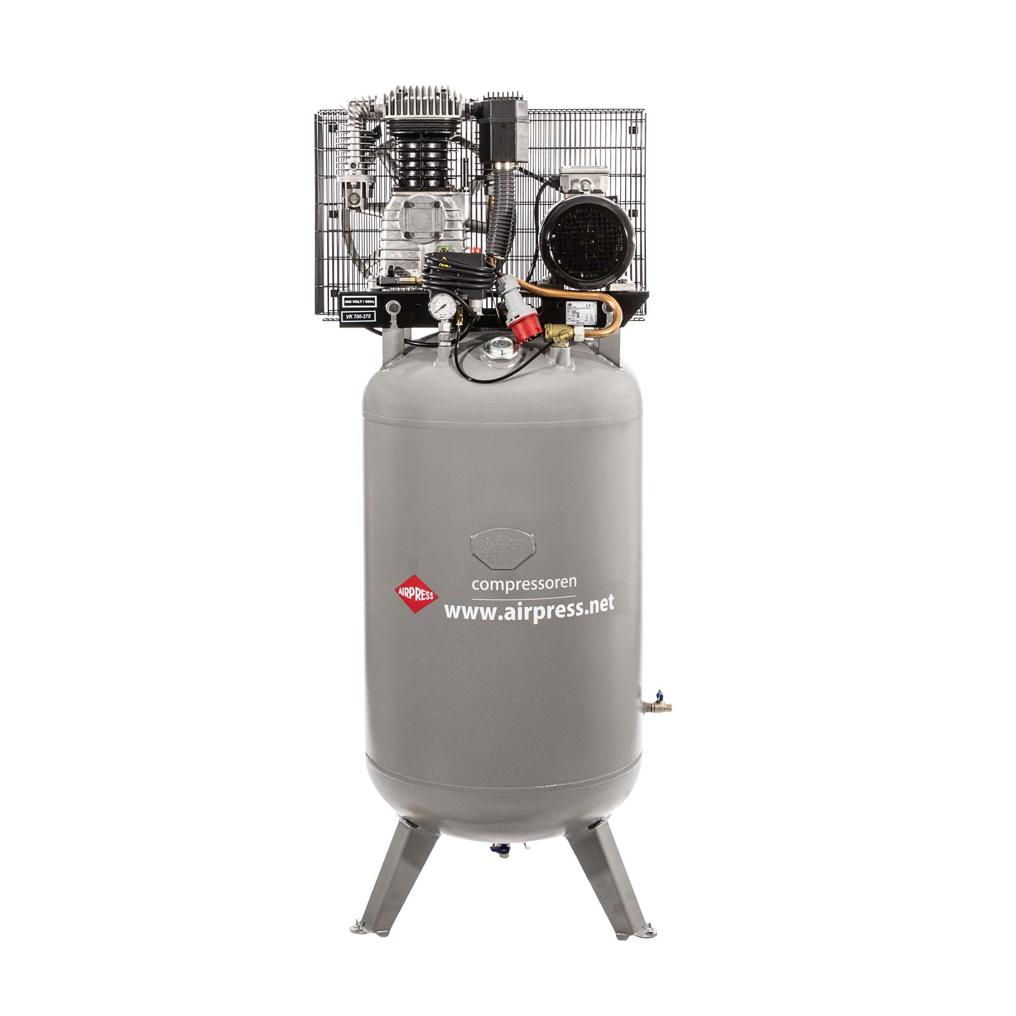 Staande Compressor VK 700-270 Pro 11 bar 5.5 pk/4 kW 530 l/min 270 l