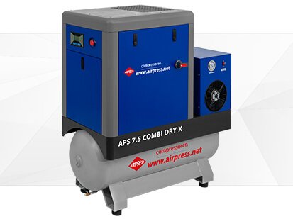 Airpress X Serie Schroefcompressor 7-5 Combi Dry